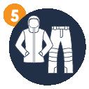 Spodnie oraz kurtkę narciarską